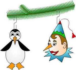 новогодняя елка, елочные игрушки