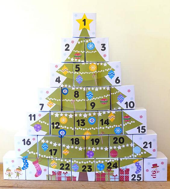 Картинки по запросу календарь ожидания нового года с коробочками
