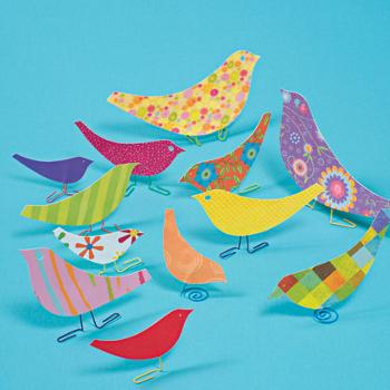 Поделка птицы из салфеток