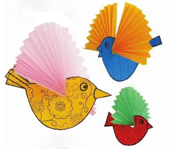 поделки птиц из бумаги