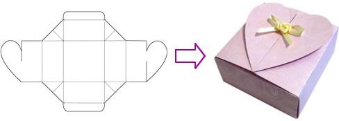 Коробочка своими руками из бумаги схема