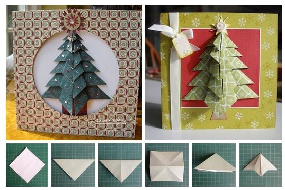 елочка оригами, оригами ёлка