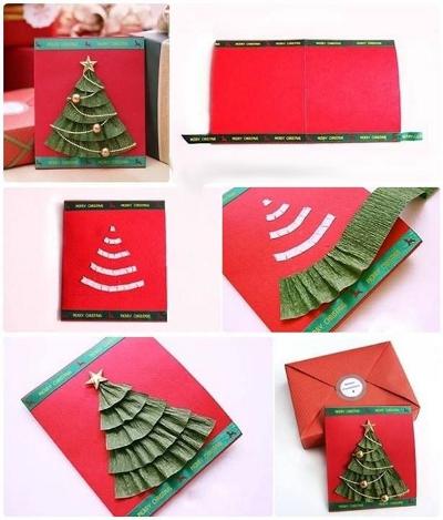 объемные новогодние открытки своими руками
