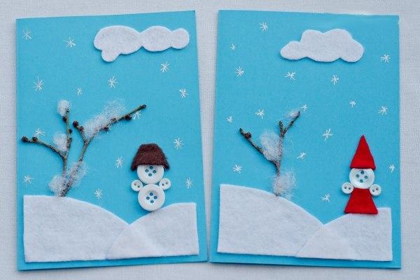 открытка к новому году своими руками