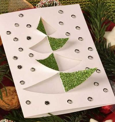 объемные новогодние открытки