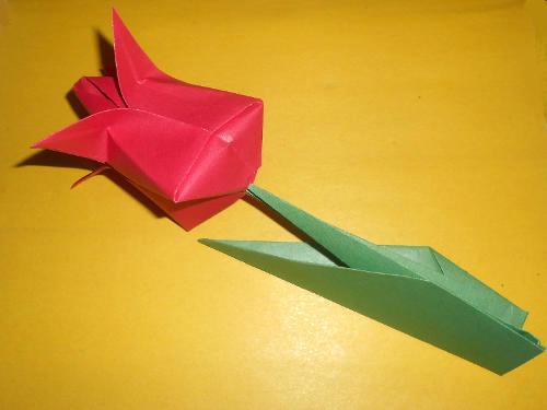 Из бумаги оригами тюльпан