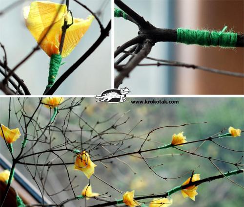 весенняя поделка цветы
