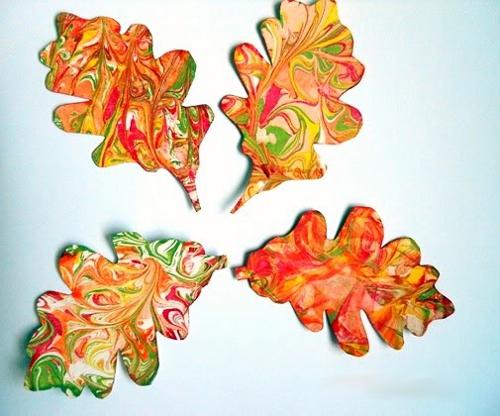 рисуем осенние листья