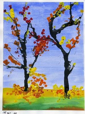 Рисунки рисуем осенние деревья