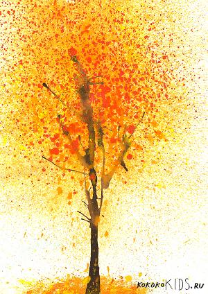 рисуем осенние деревья