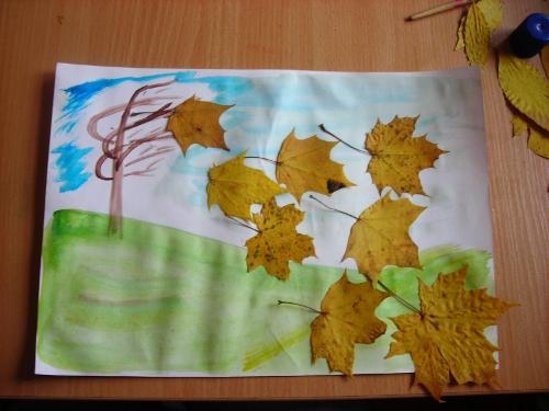осень на рисунки листьев