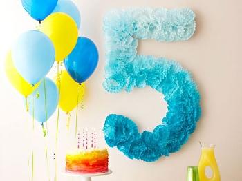 Цифра 4 для дня рождения своими руками