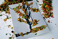 Поделки детей из листьев своими руками