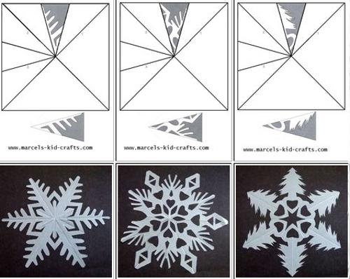 Как вырезать снежинки из