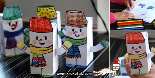 Новогодние поделки снеговика своими руками из носка