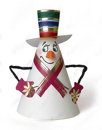 Новогодние поделки своими руками снеговик фото
