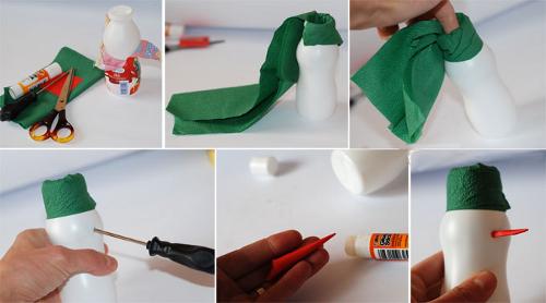 Как можно сделать своими руками снеговика