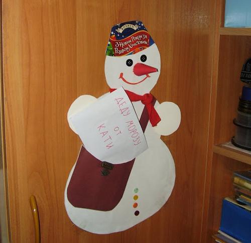 Новогодние открытки своими руками снеговик