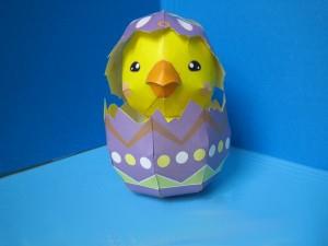 пасхальное яйцо из бумаги