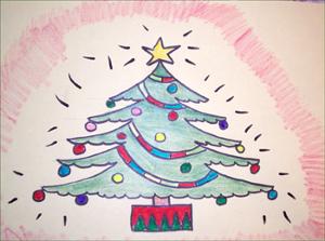 рисунок елка