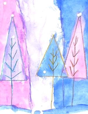 елка рисунок для детей