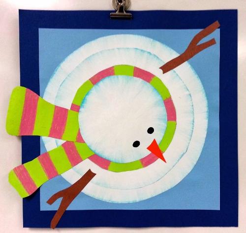 как нарисовать снеговика для детей