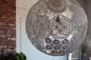 Новогодние украшения шар из ниток своими руками