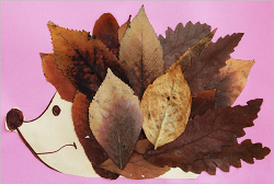 Объемные поделки из листьев