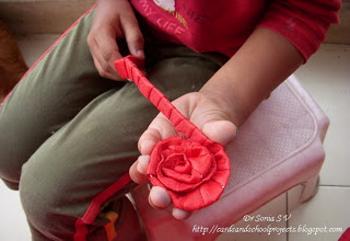 Как сделать своими рукам цветочек из ленты 284
