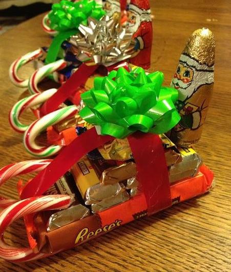 Фото с новогодними подарками