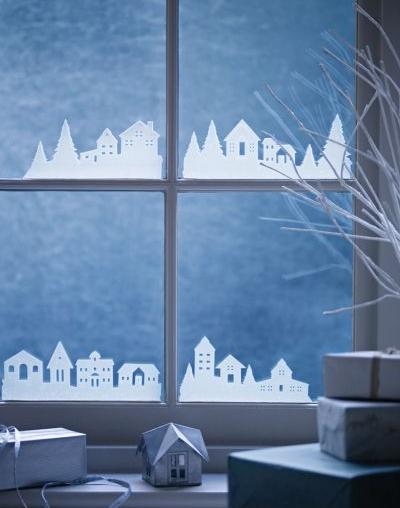 Скачать шаблонам вырезалки на окна к новому году 2015