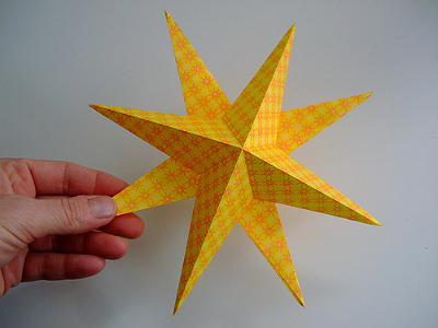 новогодняя звезда из бумаги объемная