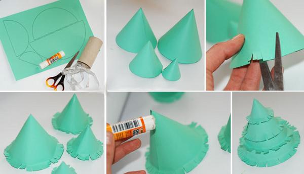 Как сделать своими руками елку из бумаги