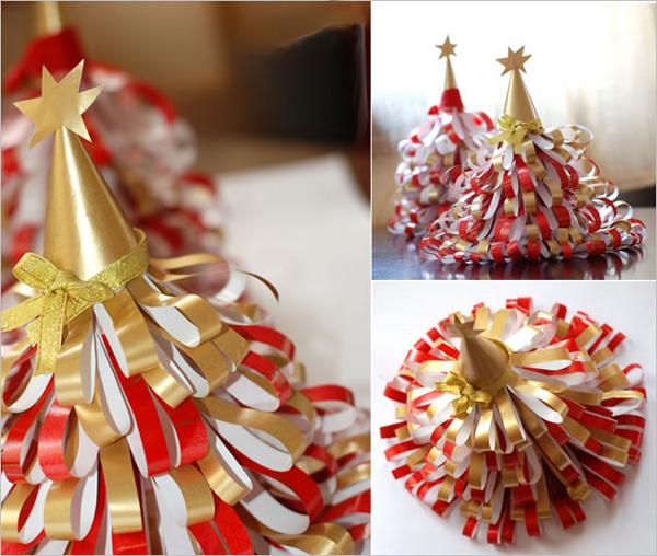 как сделать новогоднюю елку из бумаги