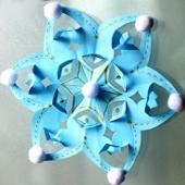 Необычные объемные снежинки из бумаги своими руками