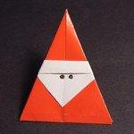 оригами дед мороз