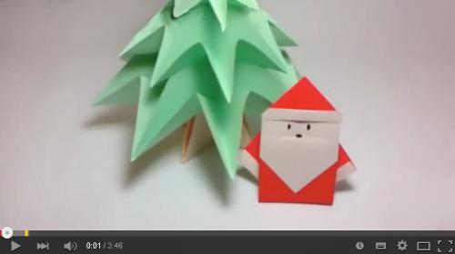 оригами дед мороз видео
