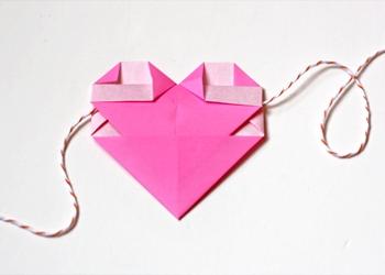 объемное сердце из бумаги