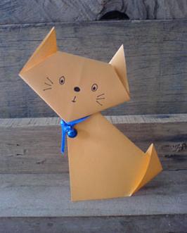 Кошка из бумаги своими руками фото 644