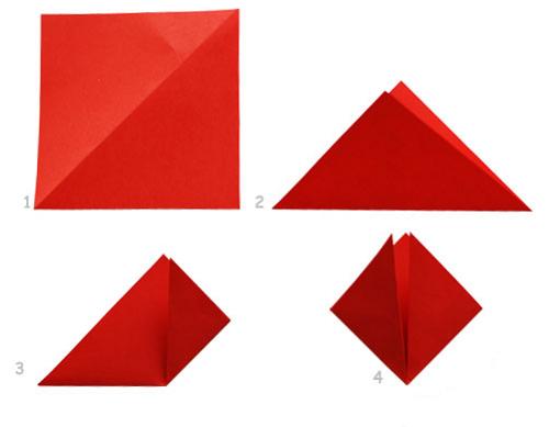 Цветы оригами схемы.
