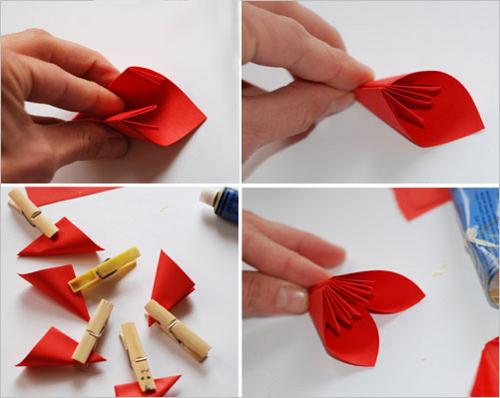 Открытка из оригами