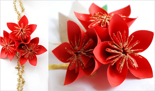 один оригами цветок вам