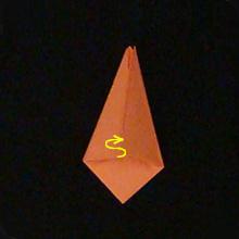 тюльпан оригами схема