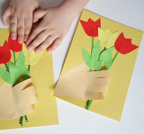открытка на 8 марта своими руками