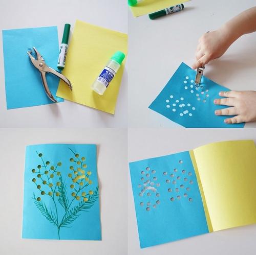 Как сделать объемную открытку маме