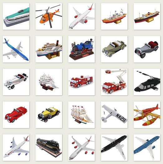 всевозможные модели машин