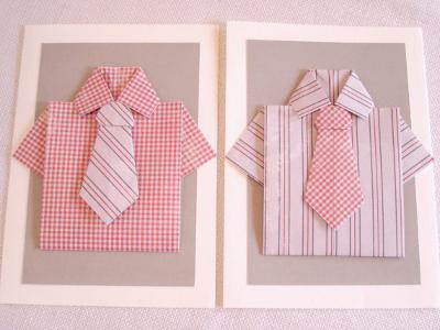 рубашку в технике оригами.