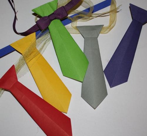 галстук оригами схема