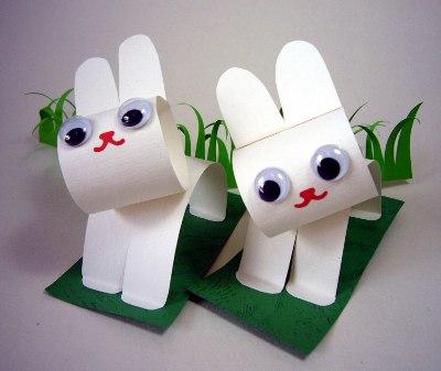 Заяц из бумаги своими руками