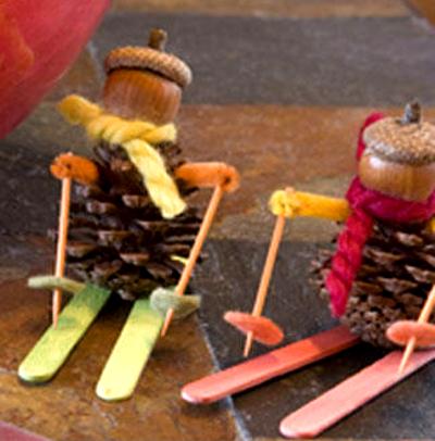 поделки из шишек для детского сада